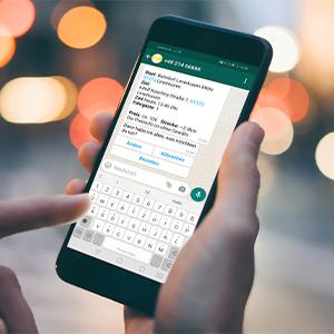 Per Whatsapp Taxi bestellen