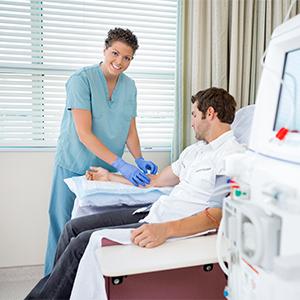 Patient wird behandelt